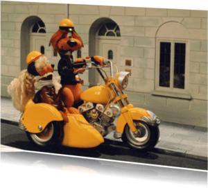 Felicitatiekaarten - Loeki de Leeuw motor zijspan