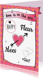Felicitatiekaarten - Love is in the air, grafisch