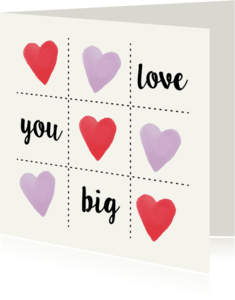 Liefde kaarten - Love you big boter kaas & eieren