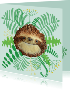 Zomaar kaarten - Luiaard in het oerwoud