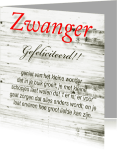 Felicitatiekaarten - made4you-zwanger
