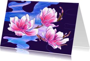 Bloemenkaarten - Magnolia bloemen