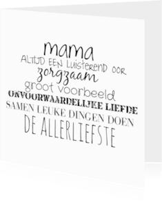 Moederdag kaarten - Mama Gewoon te gek