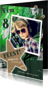 Kinderfeestjes - Mega stoere uitnodiging