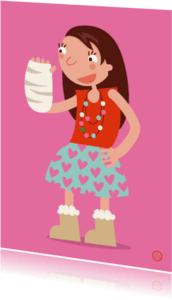 Beterschapskaarten - Meisje met gebroken arm