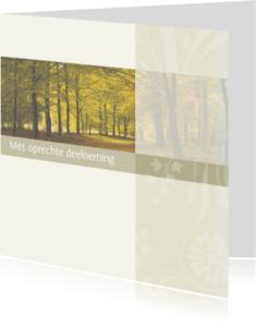 Condoleancekaarten - Met oprechte deelneming bos