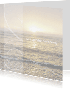 Condoleancekaarten - Met oprechte deelneming zee