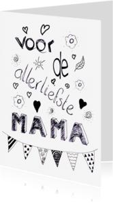 Moederdag kaarten - moederdag handletter mama