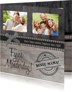 Moederdag kaarten - Moederdag Hout Foto Stempel