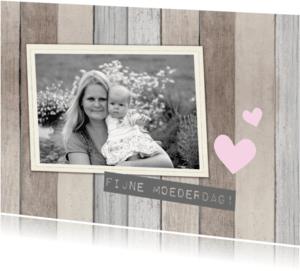 Moederdag kaarten - Moederdag hout polaroid