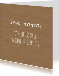 Moederdag kaarten - Moederdag - Lieve mama