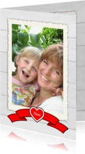 Moederdag kaarten - Moederdag Lintje voor mama