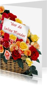 Moederdag kaarten - Moederdagkaart met rozen