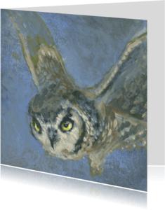 Dierenkaarten - Mooie handgeschilderd Uil