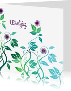 Uitnodigingen - Mooie uitnodiging frisse kleuren