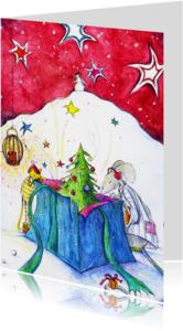 Kerstkaarten - Muizen kerstkaart 2