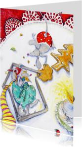 Kerstkaarten - Muizen kerstkaart 3