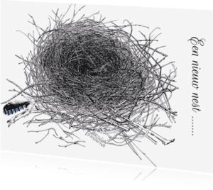 Verhuiskaarten - Nest gaai