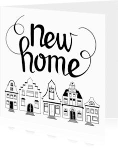 Felicitatiekaarten - New home huisjes - EM