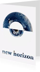 Felicitatiekaarten - New Horizon. Blauw wit - AW