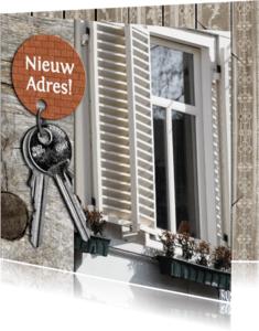 Verhuiskaarten - nieuw adres plaats foto en tekst