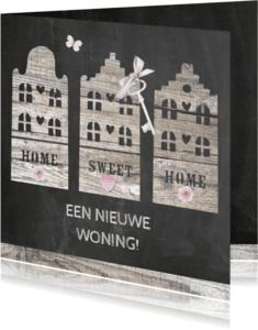 Verhuiskaarten - nieuwe woning hout
