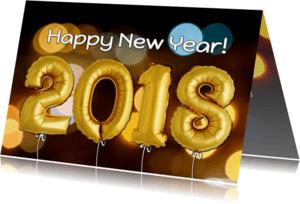 Nieuwjaarskaarten - Nieuwjaar 2018 ballon foto - OT
