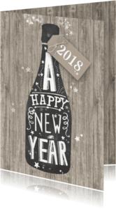 Zakelijke kerstkaarten - Nieuwjaar champagne krijtbord