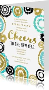 Uitnodigingen - Nieuwjaarsfeest Goud Vuurwerk