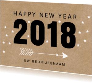Nieuwjaarskaarten - Nieuwjaarskaart 2018 kraft - LB