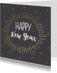 Nieuwjaarskaarten - Nieuwjaarskaart BW 2 - WW