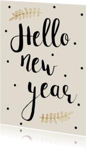Nieuwjaarskaarten - Nieuwjaarskaart Creme - WW