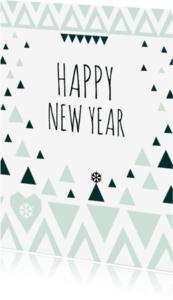 Nieuwjaarskaarten -  Nieuwjaarskaart geometrisch