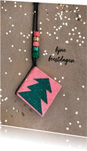 Nieuwjaarskaarten - Nieuwjaarskaart kerstboom wens