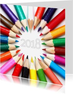 Nieuwjaarskaarten - nieuwjaarskaart mooie kleuren