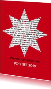 Nieuwjaarskaarten - nieuwjaarskaart positief staand