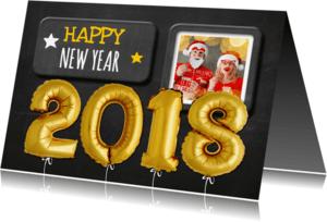 Nieuwjaarskaarten - Nieuwjaarskaart trendy 2018 - OT