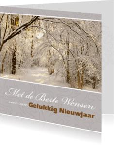 Nieuwjaarskaarten - Nieuwjaarswens zilvergrijs 4K-AS