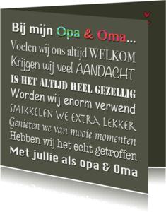 Opa & Omadag kaarten - Opa & Omadag kaart Leukste
