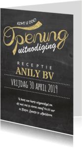 Uitnodigingen - Opening krijtbord goud