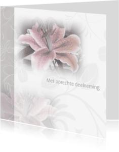 Condoleancekaarten - Oprechte Deelneming met lelie