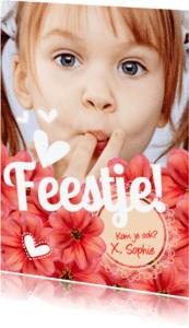 Kinderfeestjes - Orginele uitnodiging voor een feestje