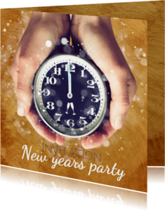 Nieuwjaarskaarten - Oud en Nieuw party - uitnodiging