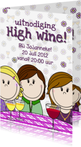 Uitnodigingen - Party girls High wine