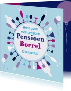 Uitnodigingen - Pensioen glazen 1