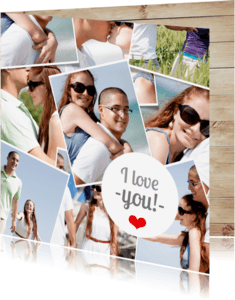 Valentijnskaarten - Polaroid Foto collage Valentijn