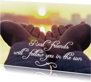 Vriendschap kaarten - Real friends - BK