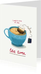 Uitnodigingen - Relax, it's teatime! Theetijd :)