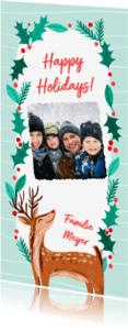 Kerstkaarten - Rendier Kerstkrans