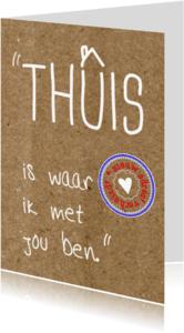 Verhuiskaarten - Romantische regel stempel karton